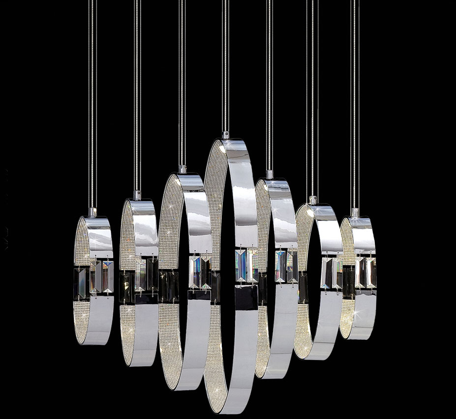 Glade 7 Light Large Contemporary Chandelier Grand Light