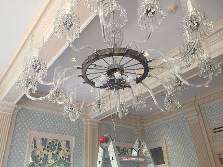 Otesaga-Resort-Hotel-Crystal-Chandelier-Repair-3