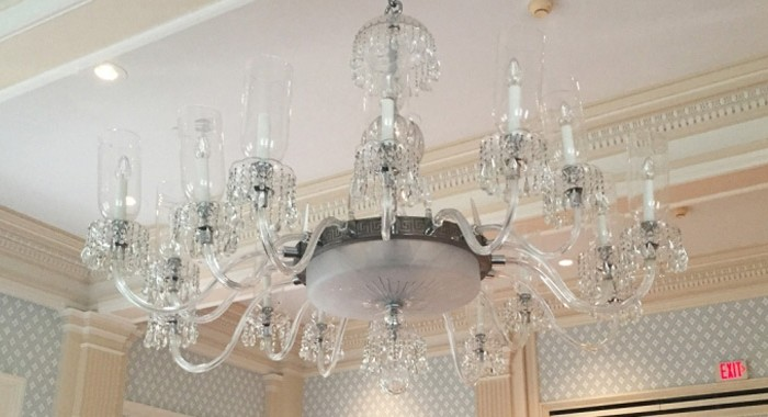Otesaga Resort Hotel Historic Crystal Chandelier Repair