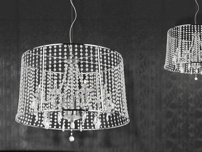 "Medium Crystal Pendant Lighting - 11"" to 20"" Dia"