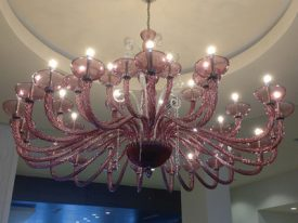 "Large Glass Chandeliers - 27"" to 42"""