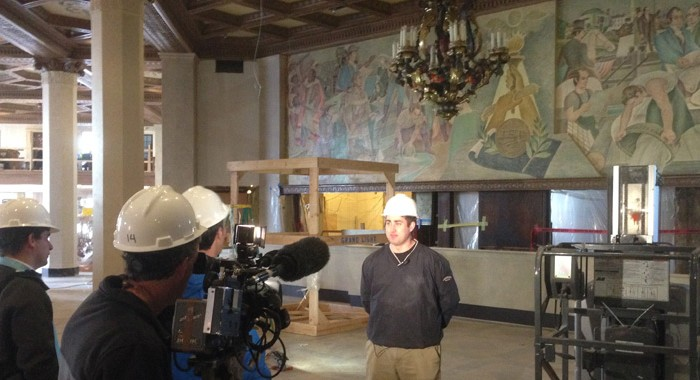 Marriott Syracuse Downtown Lighting Restoration News Segment