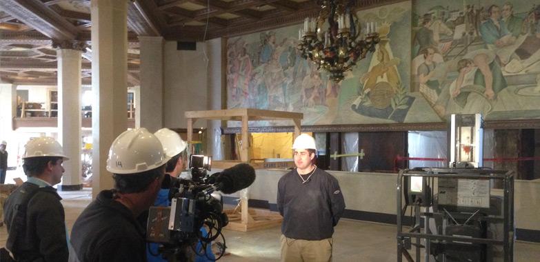 Marriott Syracuse Downtown Lighting Restoration News Segment