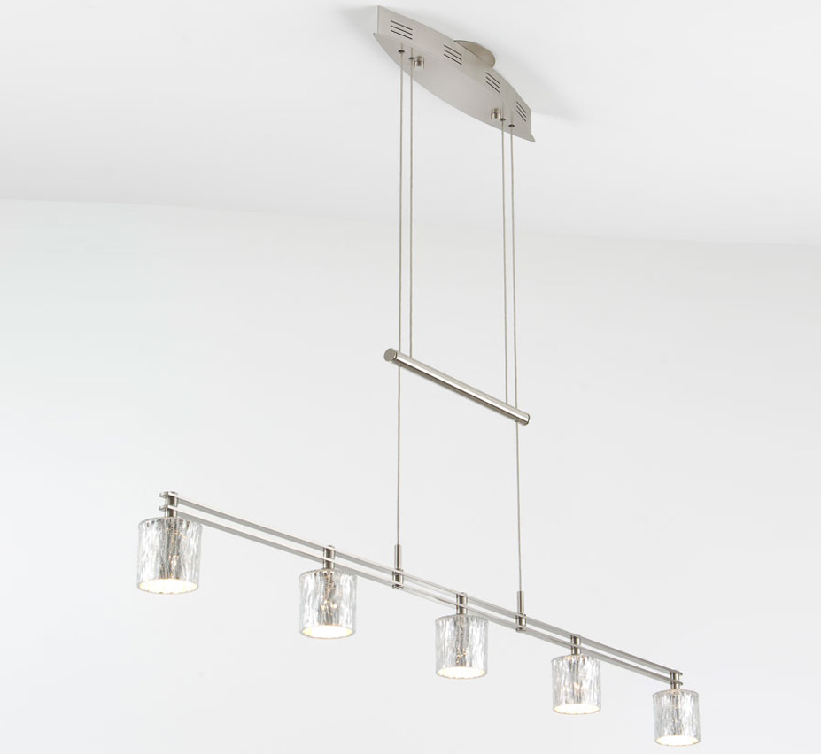 Low Voltage Outdoor Chandelier: Halogen 5 Light Low Voltage Contemporary Linear Chandelier