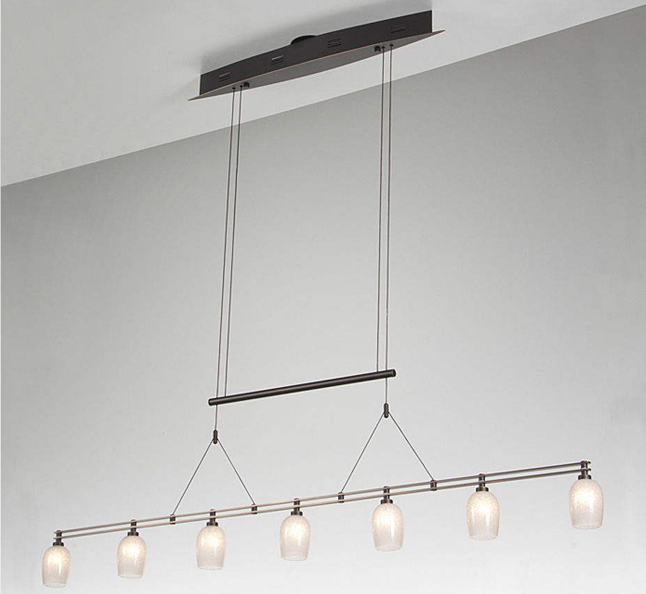 Low Voltage Outdoor Chandelier: Halogen Low Voltage 7 Light Contemporary Linear Chandelier