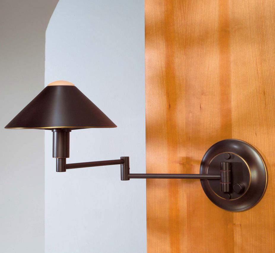 Small Modern Wall Sconces : Halogen Swing-Arm Contemporary Small Wall Sconce Grand Light