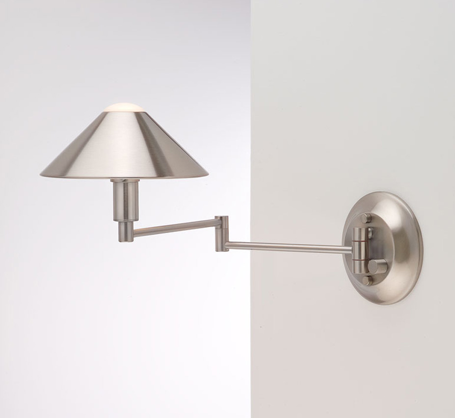 Halogen Swing Arm Contemporary Small Wall Sconce Grand Light