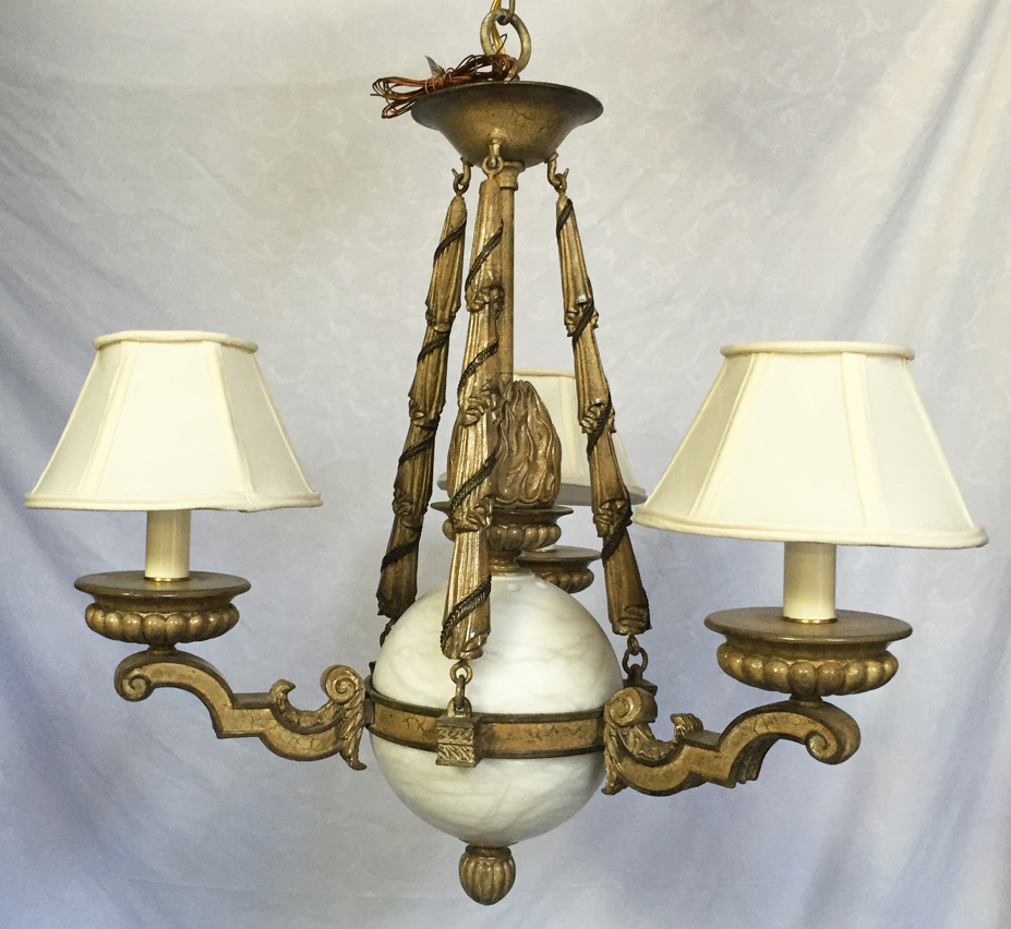 Genoa 3 light large vintage chandelier grand light large vintage chandelier facebook share arubaitofo Image collections