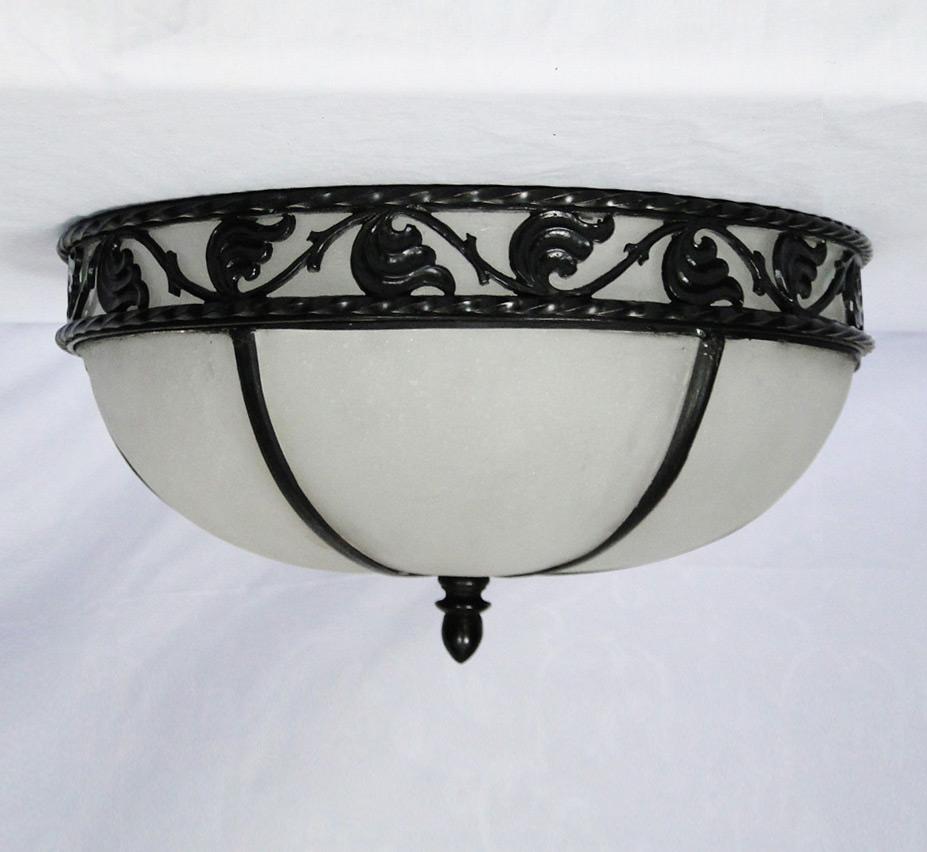 Cromwell 15 Dia Medium Vintage Flush Mount Ceiling Light