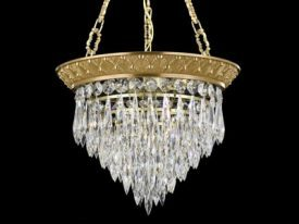 Brass & Crystal Pendant Lighting