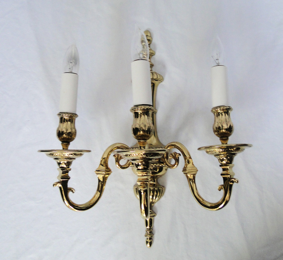Ef Caldwell Large Vintage Wall Sconce Set Of 2 Pair Grand Light