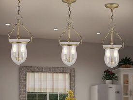 "Medium Traditional Pendant Lighting - 11"" to 20"" Dia"