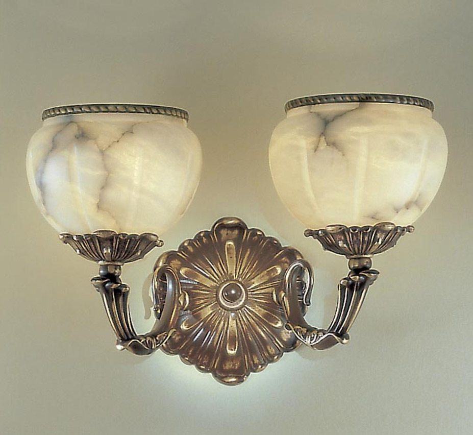 Alexandria I Collection 17? W Large Alabaster Wall Sconce Grand Light