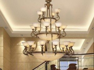 """Extra Large Alabaster Chandeliers - 43"""" & Above"""