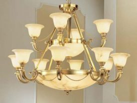 Large Alabaster Chandeliers – 27″ to 42″