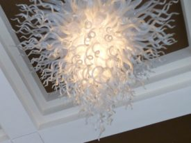 "Large Glass Ceiling Lighting - 17"" to 22"" Dia"