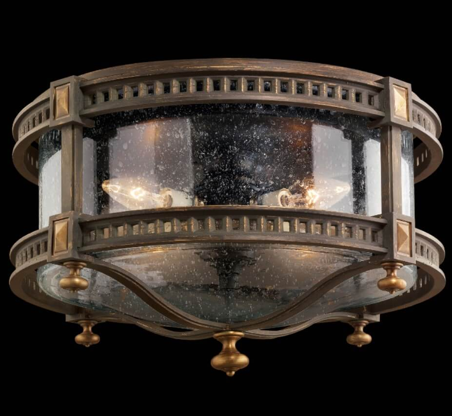 outdoor flush mount ceiling light rustic beekman place 18u2033 dia medium traditional outdoor flush mount ceiling light