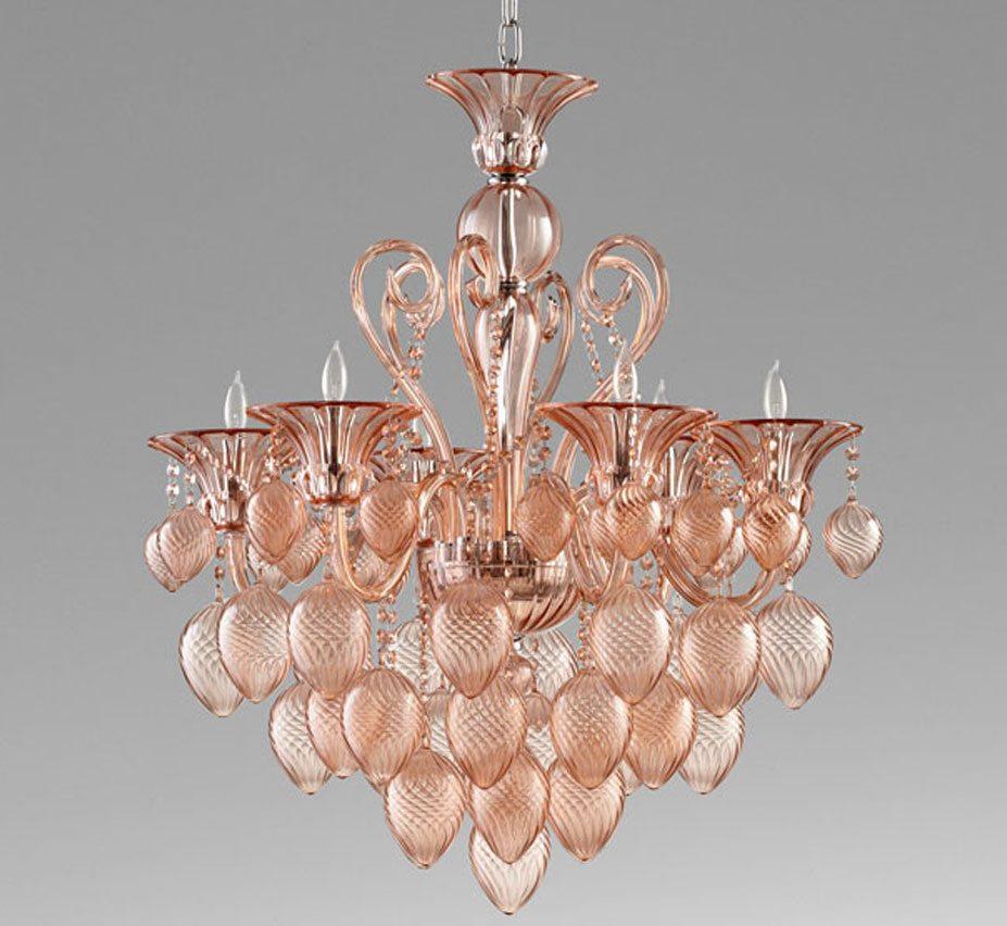 Large glass chandeliers bella vetro 6 light large glass chandelier aloadofball Gallery