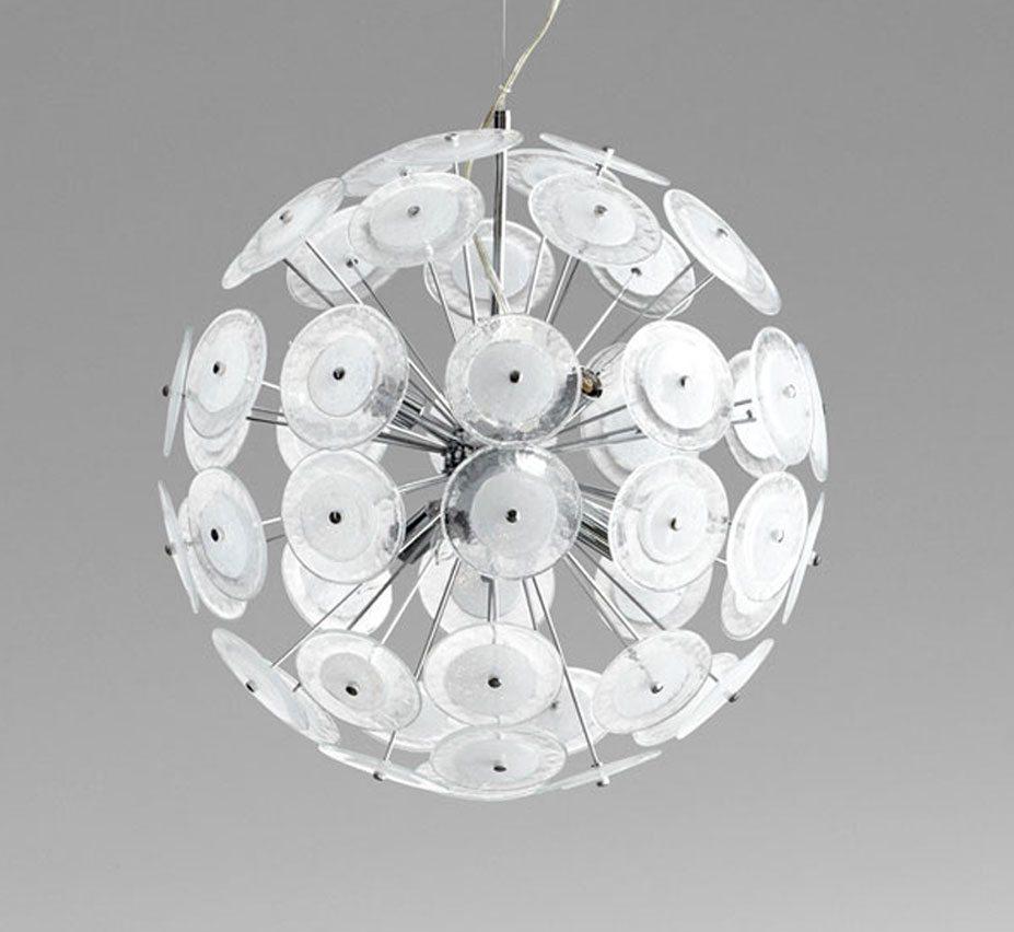 facebook-share ... & Dandelion 20u2033 Dia Medium Glass Pendant Light   Grand Light