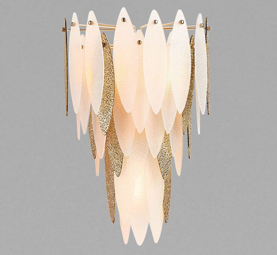 Vega extra large glass wall sconce grand light for Large glass wall
