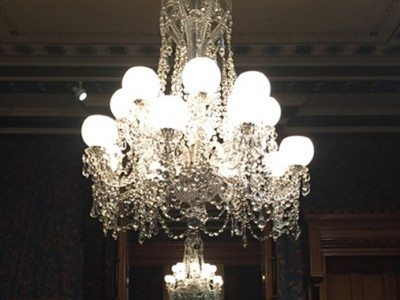 Chandelier restoration grand light crystal chandelier from wadsworth atheneum goodwin parlor restored aloadofball