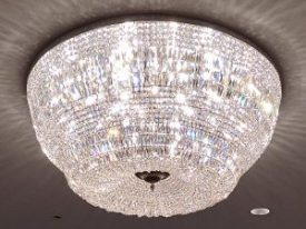Brass & Crystal Ceiling Lighting