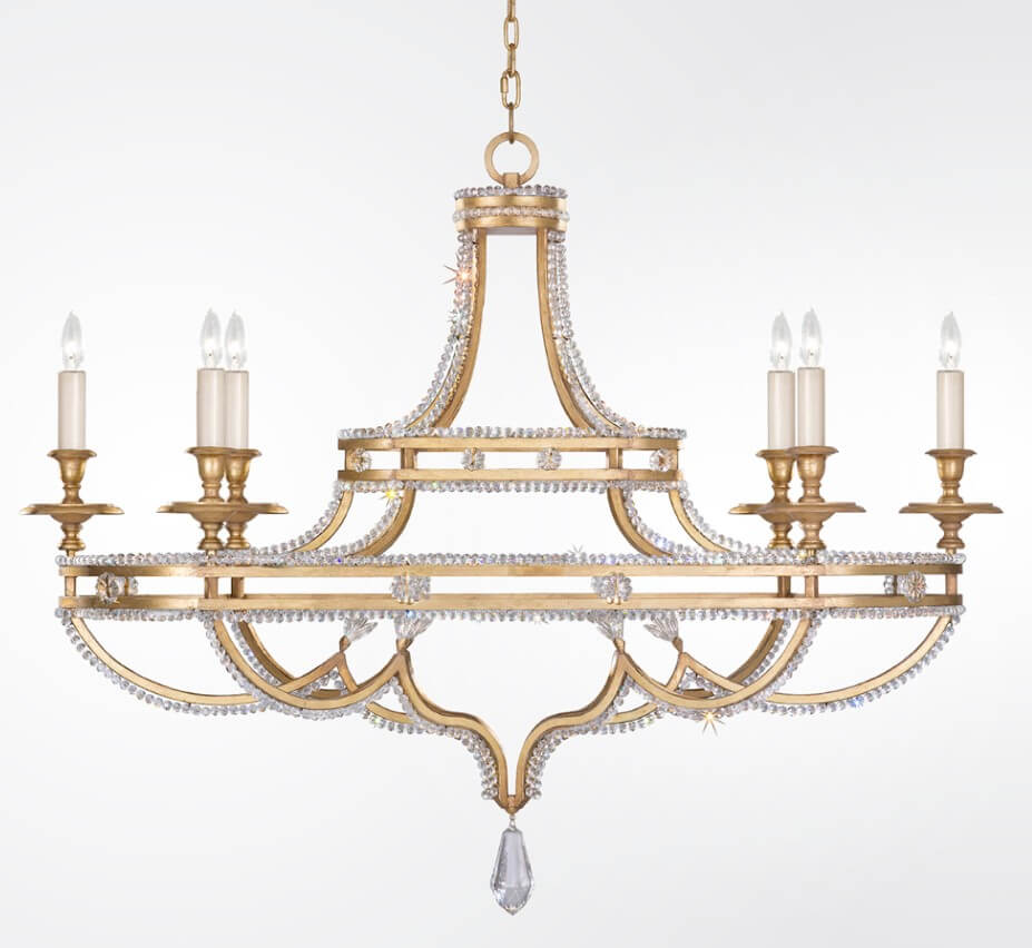 buy online b4b61 7ef83 Prussian Neoclassic 6 Light Extra Large Transitional Chandelier