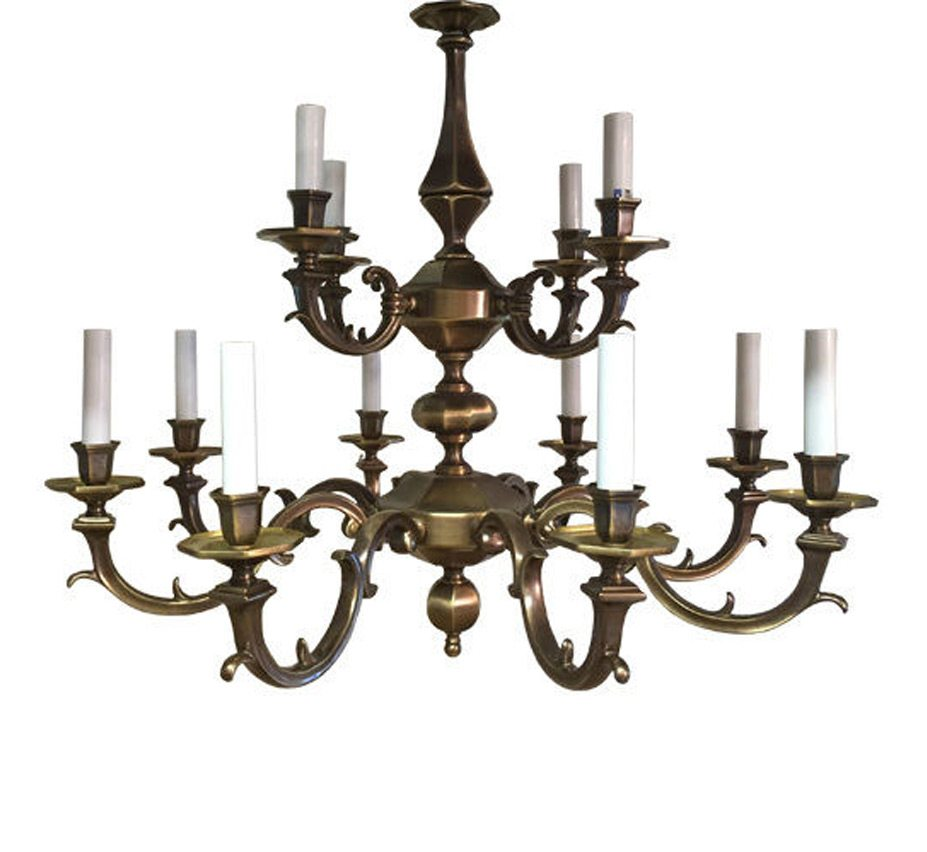 Altamura 12 light large vintage chandelier