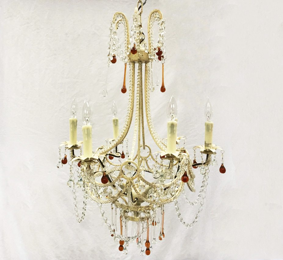 Carrara 9 light large vintage chandelier