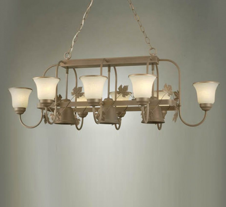 Pot Rack Collection 11 Light Large Linear Chandelier