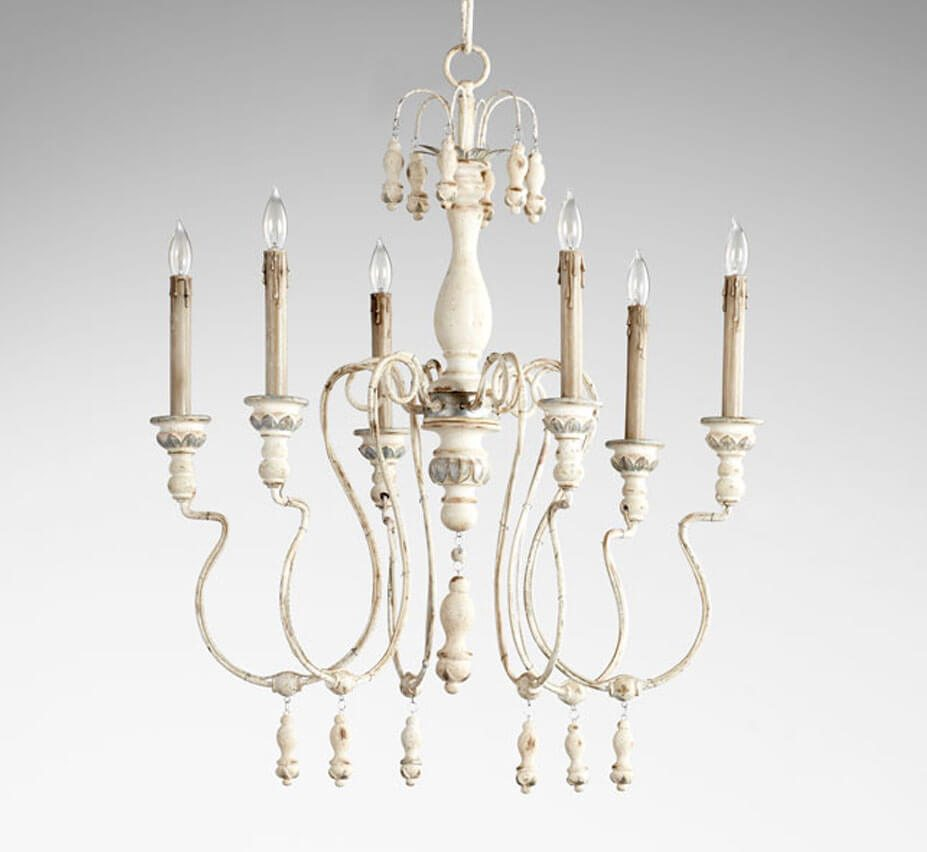 Chantal 6 light large wood and iron chandelier grand light chantal 6 light large wood and iron chandelier arubaitofo Image collections