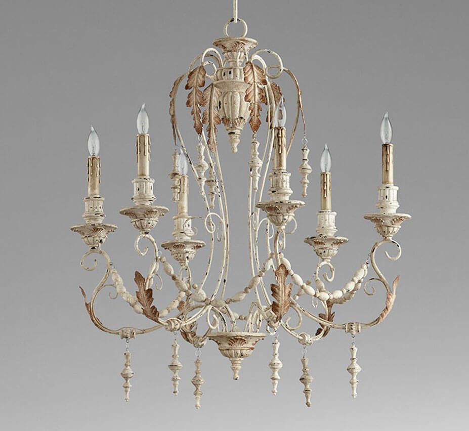 Lolina large 6 light wood and iron chandelier grand light for Wood chandelier lighting