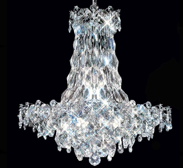 Continental 16 Light Large Crystal Chandelier