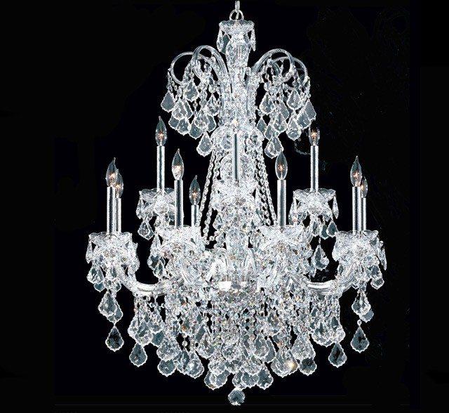 Maria Elena 12 Light Large Crystal Chandelier