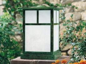 Arts & Crafts Outdoor Column Mount Lighting