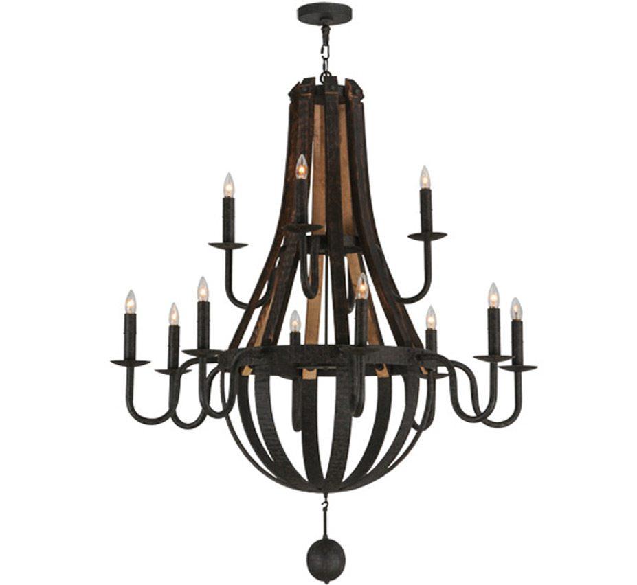 Extra large rustic wood iron chandeliers barrel steve madera 12 lt extra large wood and iron chandelier aloadofball Choice Image