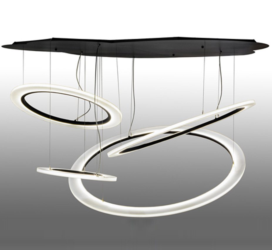 Anillo Tilt 84 Dia Led Extra Large Contemporary Cascading