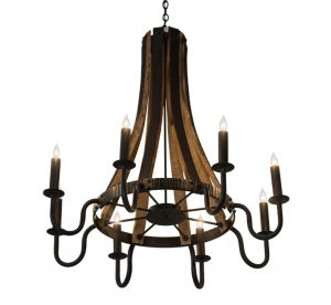 Extra large rustic wood iron chandeliers barrel steve madera 8 lt extra large wood and iron chandelier aloadofball Gallery
