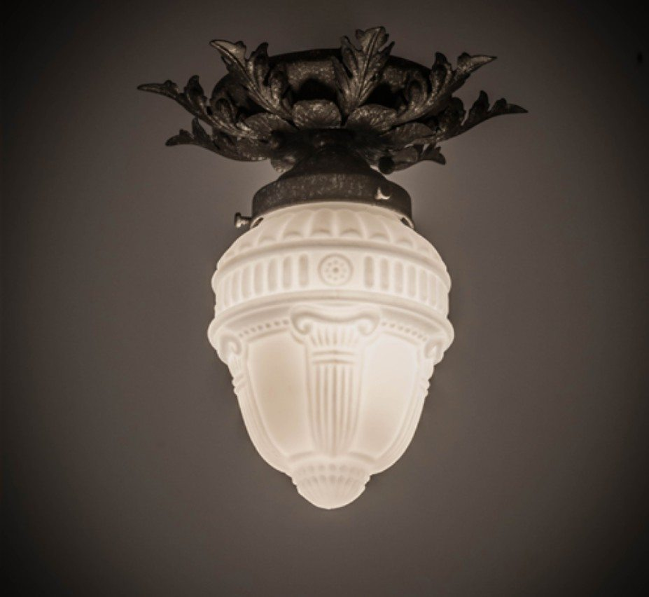 Fancy Fl W Colonnade Globe 8 5 Dia Small Traditional Flush Mount Ceiling Light