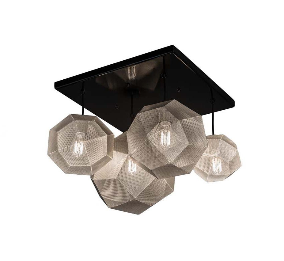 Large Contemporary Ceiling Lights : Nidos dia extra large contemporary semi flush ceiling