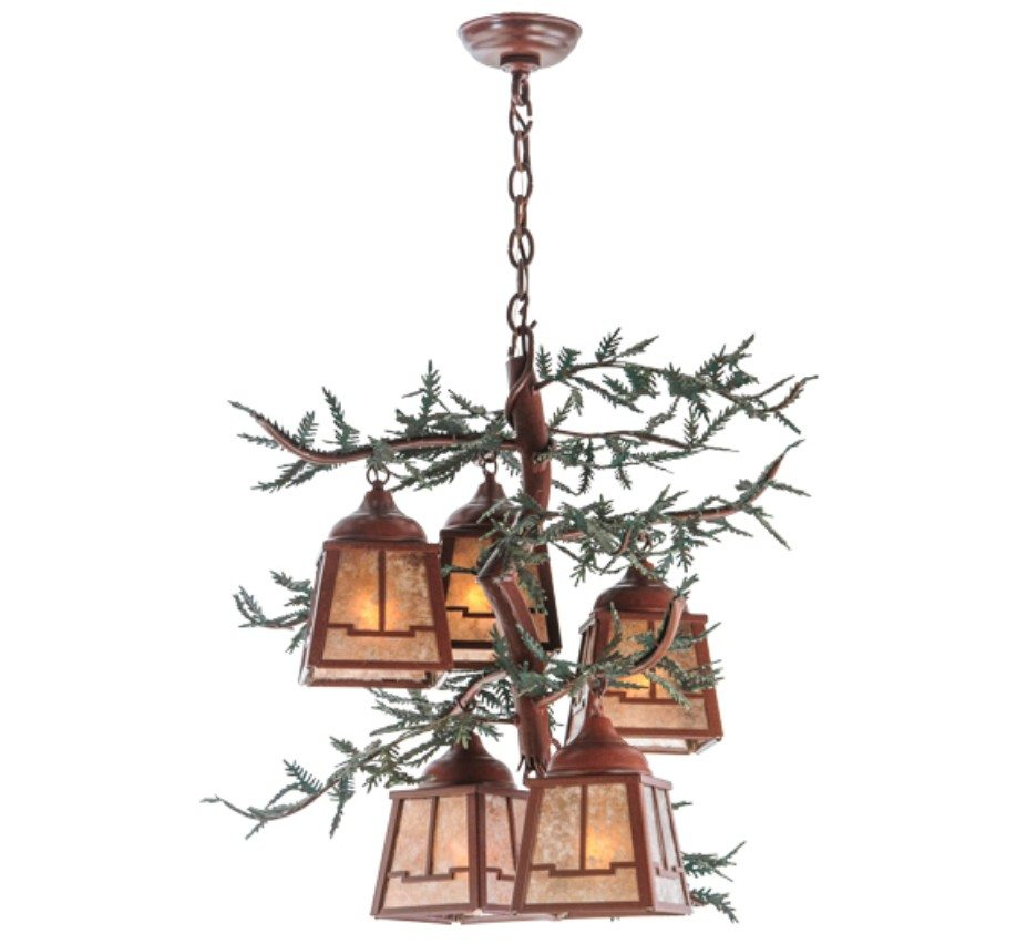arts and crafts chandelier. Pine Branch Valley View 5 Light Large Arts \u0026 Crafts Chandelier And D