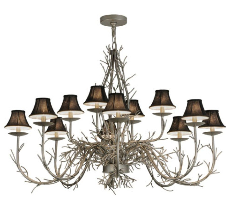 Twigs 12 lt extra large wood and iron chandelier grand light facebook share mozeypictures Images