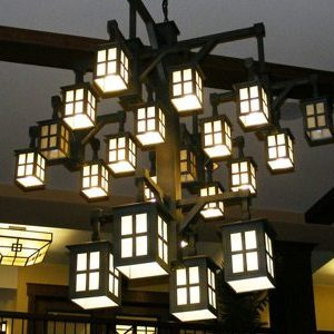 """Extra Large Arts & Crafts Chandeliers - 43"""" & Above"""