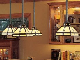 "Small Arts & Crafts Pendant Lighting - 3"" to 10"" Dia"