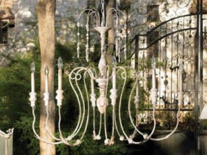 """Large Wood & Iron Chandeliers - 27"""" to 42"""""""