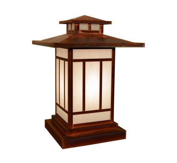 High quality outdoor column mount lighting kennebec 16 h arts and crafts outdoor column mount light aloadofball Image collections
