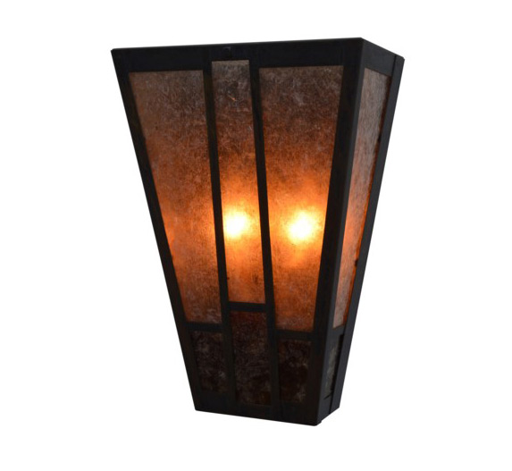 Asheville 8 W Small Arts Crafts Wall Sconce Grand Light