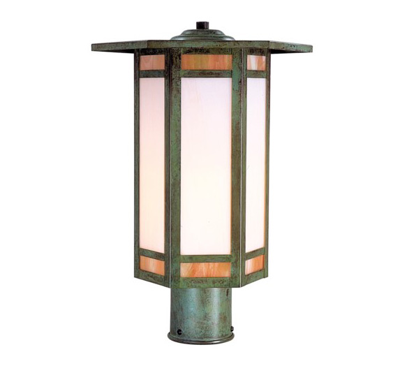 Etolie 12 H Arts Crafts Outdoor Post Light