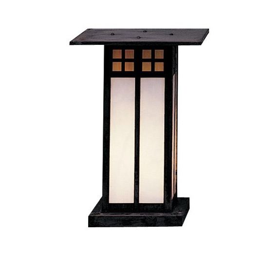 "Commercial Lighting Glasgow: Glasgow 12"" H Arts & Crafts Outdoor Column Mount Light"