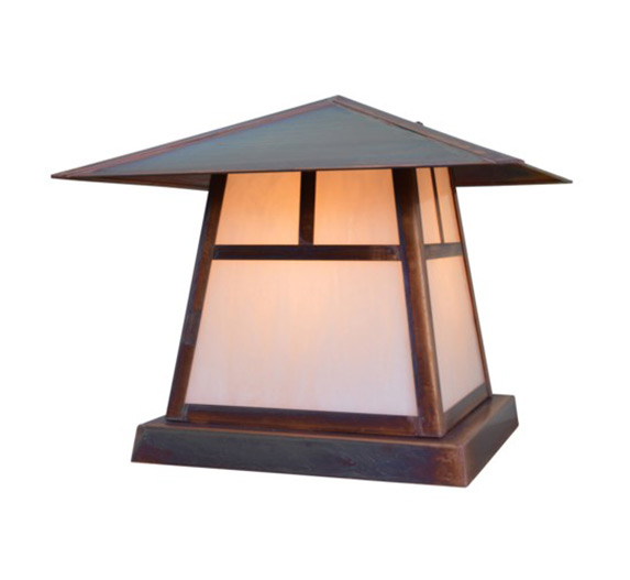 Carmel 10 H Arts Crafts Outdoor Column Mount Light